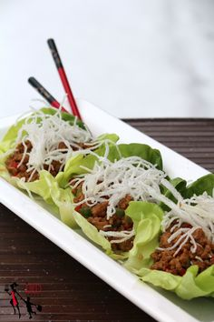 The Red Apron: Chicken Lettuce Wrap