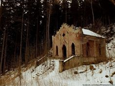 Abandoned chapel on the Holy Mountain (Lubawka, Poland)