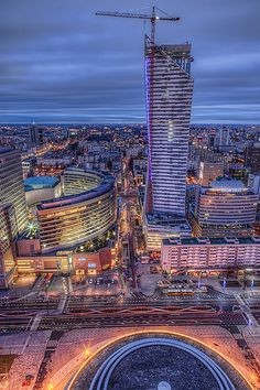 Warsaw at blue hour