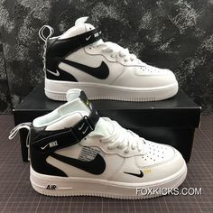 c51c6a8f0c3 Nike Air Force One Mid Utility Mid Top Casual Sneaker Aj7747-100 Size Best
