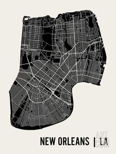 New Orleans Art Print by Mr City Printing. Save up to 40% for a limited time at Art.com.