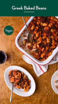 These Greek baked beans in a rich tomato sauce are a weeknight-friendly version of traditional Gigantes Plaki. Serve with toast and a salad, or roasted veg! Vegetarian Bean Recipes, Healthy Recipes, Savoury Recipes, Baked Beans Vegan, Quick Weeknight Meals, No Calorie Foods, Healthy Meal Prep, Greek Recipes, Vegan Dinners