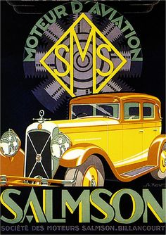 Salmson Automobile Car Advertisement Art Poster Print - I really like the color combo in this one.a