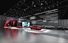 Audi Motor Show design concept. Exhibition Stand Design, Exhibition Stall, Best Used Luxury Cars, Audi Motor, Virtual Studio, Linear Lighting, 3d Studio, Retail Interior, Environmental Design