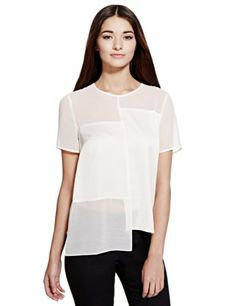 Limited Edition Sheer Panelled Blouse - Marks & Spencer