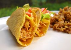 Cool Ranch Chicken Tacos {Slow Cooker} | Plain Chicken (use gluten free corn tortillas)