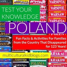 Poland is a beautiful and fascinating country. Share it with your little ones with these fun activities. Geography For Kids, Teaching Geography, Teaching Kids, Educational Activities For Kids, Fun Learning, Fun Activities, Facts For Kids, Fun Facts, Poland Facts