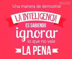 Frase: Una manera de demostrar la inteligencia es ignorar lo que no vale la pena.