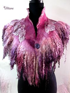 Felt Fabric, Fabric Art, Nuno Felting, Needle Felting, Creative Textiles, Fabric Manipulation, Felt Art, Felt Flowers, Felt Crafts