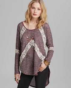 Free People Tee - Flying V Hacci Knit from Bloomingdale's on Catalog Spree