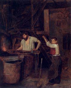 The Athenaeum - The Blacksmith's Shop (François Bonvin - )
