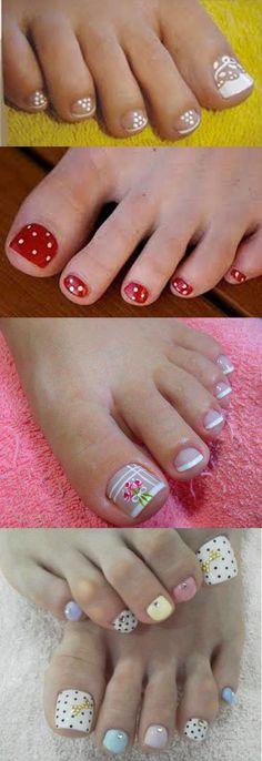 foto de unhas decoradas para os pés