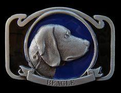 BEAGLE HUNTER HUNTING HOUSE PET POINTER DOG BELT BUCKLE