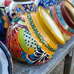 In Love with these Talavera rare colors found at Barrio Antiguo in HoustoN Texas