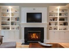 Shelving around fireplace. Nebulous Content » Non-Flammable ...