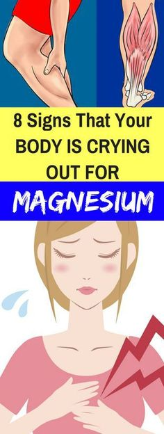 8 SIGNS THAT YOUR BODY IS CRYING OUT FOR MAGNESIUM! #healthy #body #magnesium