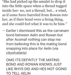 HELL!! I mean after EoS though... but the Aelin is the one who doesn't tell Rowan.