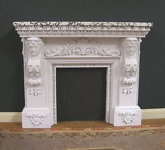 Dollhouse Fireplace Marble Finish by JimCoatesMiniatures on Etsy