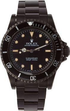 Black Limited Edition Matte Black Limited Edition Rolex Submariner 5513 Watch