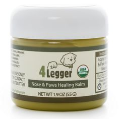 Certified Organic Nose and Paw Pad Healing Balm for Dry Chapped Cracked Skin with Hemp Oil and Shea Butter - Made in USA - 1 each - oz *** Awesome dog product. Click the image : Dog supplies for health Dog Paw Pads, Natural Vitamin E, Dog Nose, Natural Sunscreen, Cracked Skin, Natural Preservatives, Best Moisturizer, Healing Herbs, Natural Healing