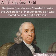 "Benjamin Franklin was a ""joker""?  We put a Joker on the $100.00 Bill? -WTF  -  fun facts"