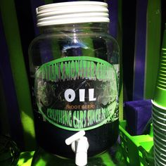 Oil (roof beer) monster truck party grave digger party