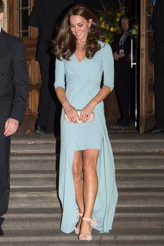 Best Dressed celebrity style and fashion (Vogue.com UK). Duchess of Cambridge in Jenny Packham.