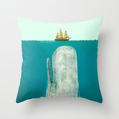 The Whale by Terry Fan #pillows #homedecor #whale