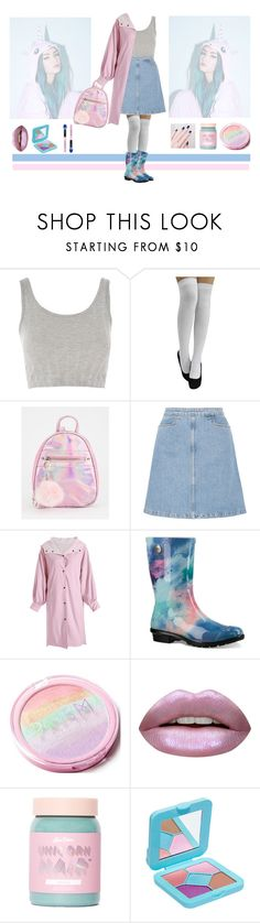 """P B"" by elver-gulhan-c ❤ liked on Polyvore featuring Topshop, M.i.h Jeans, UGG, Huda Beauty, Lime Crime and Spectrum Collections"