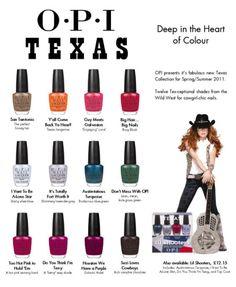 2011-Summer OPI Collection-Texas