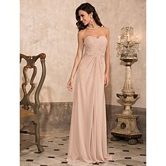 TS+Couture+Prom+/+Military+Ball+/+Formal+Evening+Dress+-+Champagne+Plus+Sizes+/+Petite+Sheath/Column+Strapless+/+Sweetheart+/+Spaghetti+Straps+–+USD+$+99.99