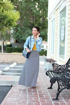 Petite Striped Maxi Skirt 22 | Flickr - Photo Sharing!