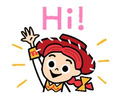 Toy Story (Cute Sketches)   Line Sticker Festa Toy Story, Toy Story Party, Hello Pictures, Hello Pics, Hi Gif, Dibujos Toy Story, Mobile Stickers, The Incredibles 2004, Toy Story 1995
