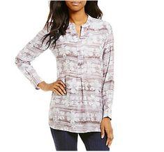 32c01a0d780 John Mark Long Sleeve Silk Tunic Top L Large Rosewood Color $149 New # JohnMark #