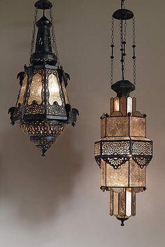 Bashira Lantern, Mercury Glass Moroccan Teardrop - anthropologie.com