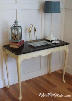 Update Old Wood Stained Furniture - Easily & Quickly - artsychicksrule.com #nauticaldecor #homedecor