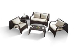 Furniture Interior. Excellent Hayworth Furniture Collection Design Inspirations. Fascinating Hayworth Decoration For Creative Rattan Table And Chair Furniture For Outdoor With Cream Cushion Feature Unusual Shaped Black Rattan Chair And Table Decoration And Black Rattan Corner Table. Hayworth Furniture Collection