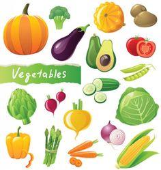 Dibujos de frutas y verduras a color - Imagui