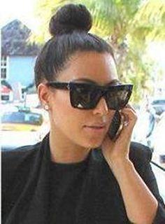 e4cbf0bd99 Celine Geo Square cl41756 zz top Black Kim Kardashian Sunglasses at Amazon  Women s Clothing store