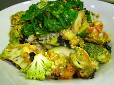 Raw vegan delicious brocolli salad! Fit Food Travel