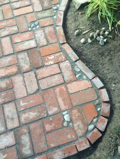 beste Design-Mosaik-Patio-Ideen , ideas with fireplace beste Design-Mosaik-Patio-Ideen - Garten Design Brick Projects, Backyard Projects, Garden Projects, Brick Paving, Brick Path, Concrete Walkway, Stone Walkway, Diy Garden, Garden Paths