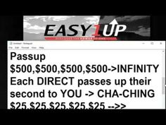 Easy 1 Up Done For You System Free Team Rotator On STEROIDS   Gunther De...