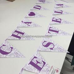 Fofuuura! Bandeirinhas de parede para o chá da Estela!  de SP para todo o Brasil personalizamos para sua festa loja infantil bebestravessuras.com - Lembrancinhas de Casamento Convites Aniversário 15 anos Formatura etc.