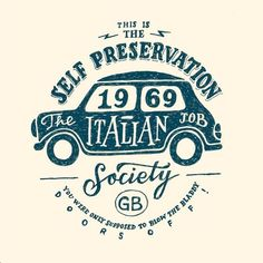 Self Preservation society logo with car