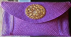 Diy, Beauty & Delicious: Diy: Bolso de mano o Clutch. Diy Clutch, Handbag Patterns, Creation Couture, Summer Bags, Cloth Bags, Handmade Bags, Sewing Hacks, Bag Accessories, Diy And Crafts