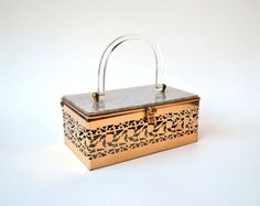lucite purse / 1950s vintage / 1950s purse / by RockAndRollVintage, $150.00