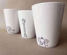 ... Mugs on Pinterest | Hand painted mugs Sharpie mugs and Diy mugs Painted Cups, Sharpie Mugs, Sharpies, Diy Mugs, Pottery Painting, Ceramic Painting, China Painting, Diy Painting, Painted Porcelain