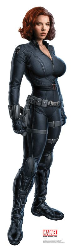 Scarlett Johansson as busty Natasha Romanoff a.k.a. Black Widow