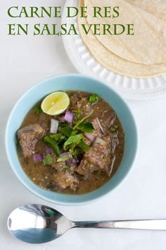 Carne de Res (Beef) en Salsa Verde: General Guidelines for the Intuitive Cook- awesome recipe by @Trix Middlekauff and Tasty Trix.com