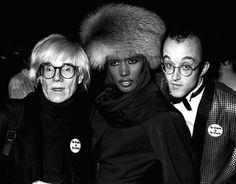 Andy Warhol, Grace Jones & Keith Haring